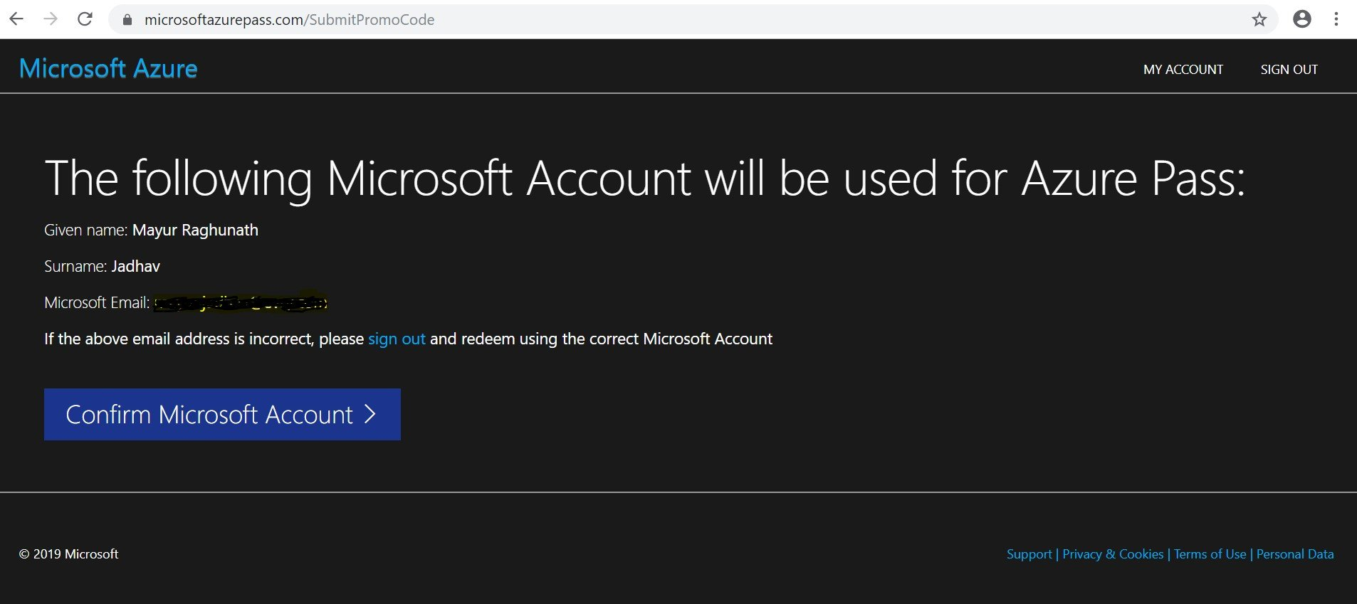 Microsoft Azure Account