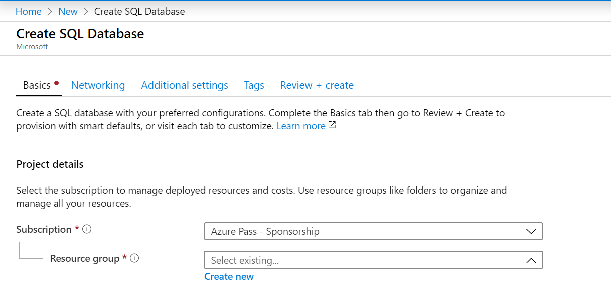 Microsoft Azure - Create A SQL Server Database Overview