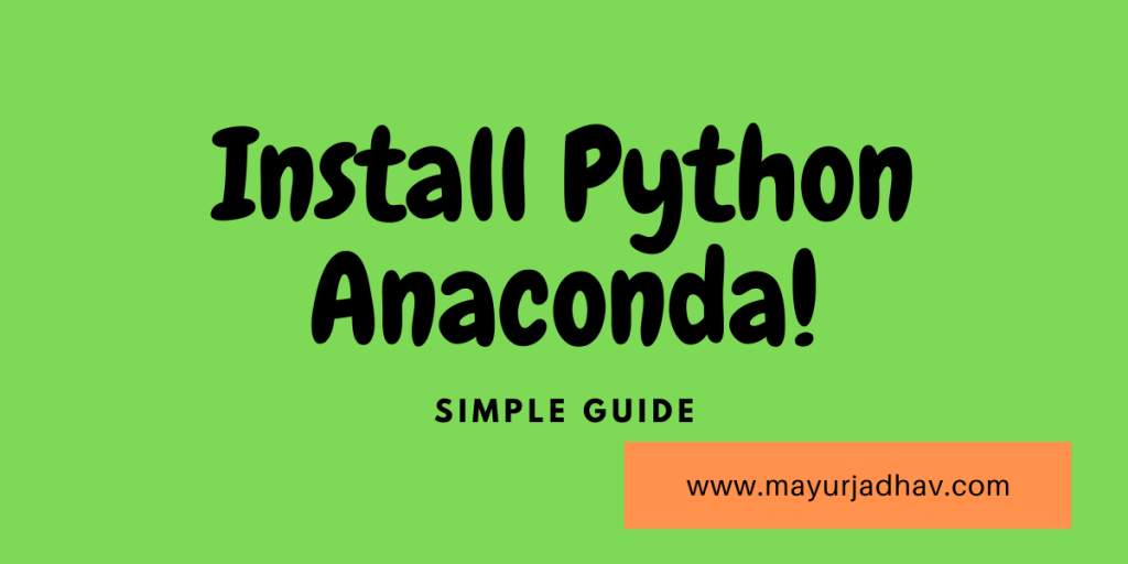 Install Python Anaconda