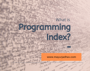 What is Programming Index